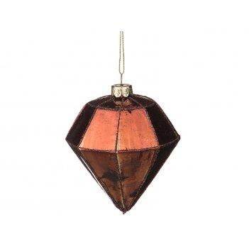 Декоративное изделие шар стеклянный 8*10 см. цвет: коричневый (кор=96шт.)