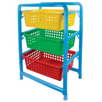 Этажерка для игрушек с тремя секциями 1273м