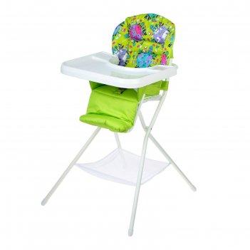 Стульчик для кормления с белым столиком, цвет зеленый
