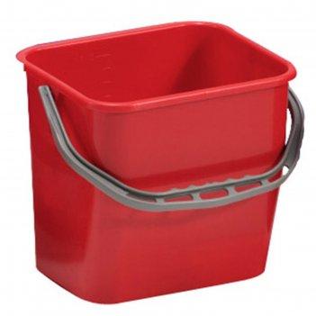 Ведро пластиковое tts с ручкой, 12 л, цвет красный