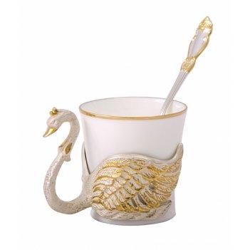 Чашка кофейная лебедь (в ассортименте) златоуст
