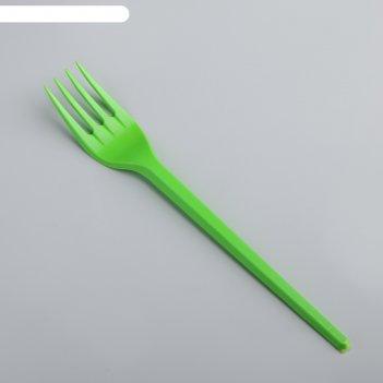 Набор вилок столовых 100 шт, цвет зеленый