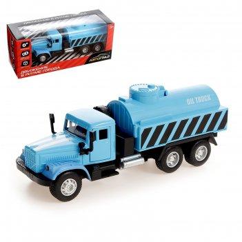Автоград грузовик металлический топливо, инерционный, микс, №sl-02859