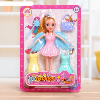Кукла сказочная фея с аксессуарами, микс