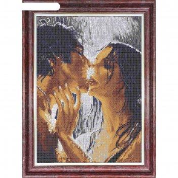 Канва с рисунком для вышивки крестом «влюблённые»