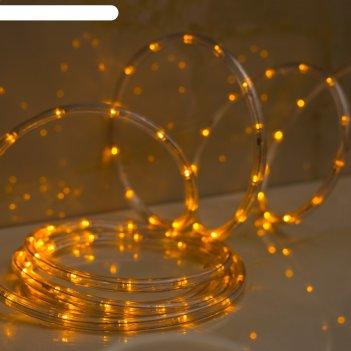 Led шнур 10 мм, круглый, 10 м, чейзинг, led/м-24-220v, с контр. 8р, желтый