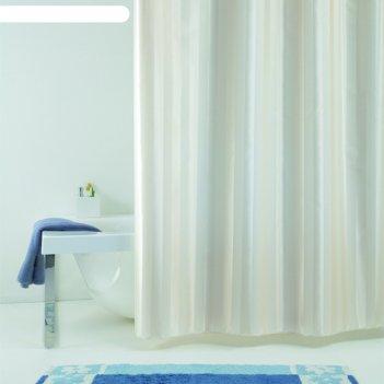 Штора для ванной rigone, 240х200 см, бежевый