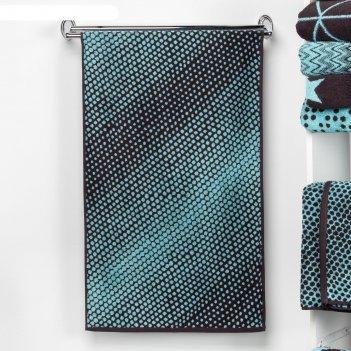 Полотенце махровое этель градиент цвет бирюза, 70х130 см, 100% хл, 420 гр/