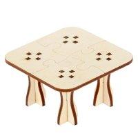 Деревянная заготовка для творчества стол пазлы (набор 9 деталей)  8х5 см