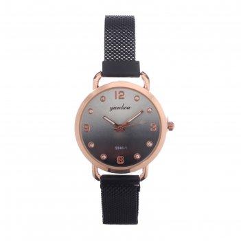 Часы наручные женские disaihong d=3.5 см, ремешок на магните, микс