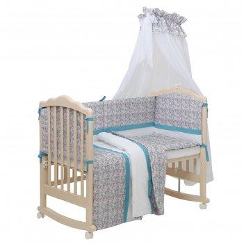 Комплект в кроватку «последний богатырь», 7 предметов, принцесса, цвет гол