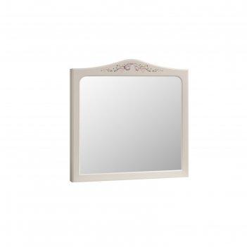 Зеркало акварель, 800х88х793, белый/джелато патина сиреневая