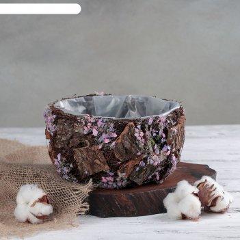 Кашпо плетеное дерево желаний круг, 17х17х10 см