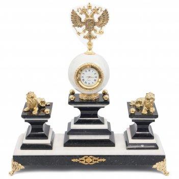Настольный набор герб мрамор бронза 320х130х320 мм 7000 гр.
