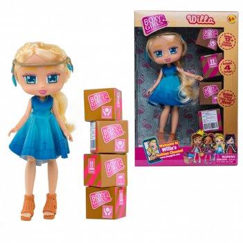 Кукла 1toy boxy girls willa 20 см. с аксессуарами в 4-х коробочка 4х4х4 см