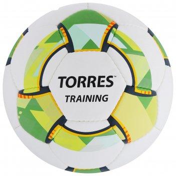 Мяч футбольный torres training, размер 5, 32 панели pu, 4 подкладочных сло