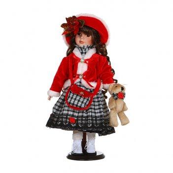 Фарфоровая кукла розочкас мягконабивным туловище...