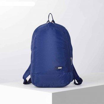Рюкзак школьн  рм-01, 30*15*42, 2 отд на молниях, синий