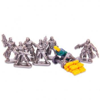 Настольная игра бронепехота №1, набор солдатиков с пушкой