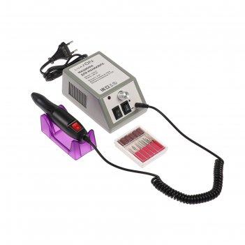 Машинка для маникюра luazon lmh-02, 10w , регулировка скорости, 6 насадок,