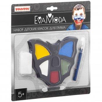 """""""eva moda. детские краски для грима (6 цветов) с аппликатором, спонже"""