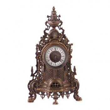 Часы механические настольные 40*22*11 см.латунь