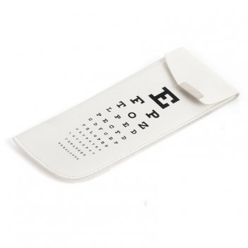 Футляр для очков eye test белый