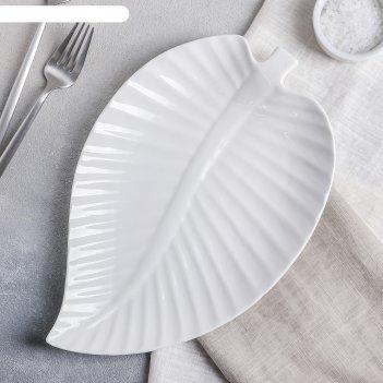 Блюдо 29х19х2 см лист