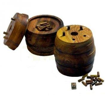 Бочка деревянная головоломка арт 6335