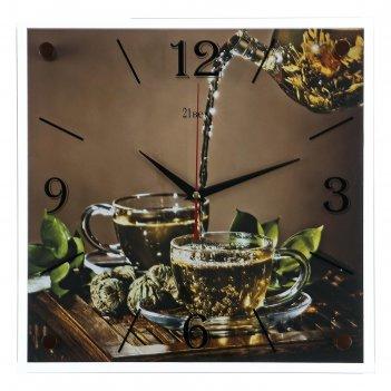 Часы настенные, серия: кухня, чайная церемония, 35х35  см, микс