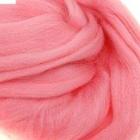 Шерсть для валяния полутонкая (0160, розовый)