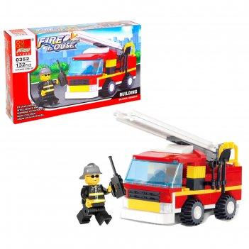 Конструктор пожарная бригада, 132 детали