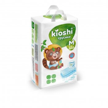 Подгузники-трусики kioshi m 6-11 кг 52 шт