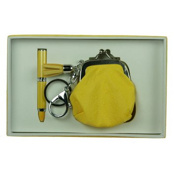 """Подарочный набор """"кошелек"""": ручка, брелок 17*11*3см"""