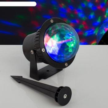 Световой прибор хрустальный уличный шар,  d=10 см, 12 в, ip65