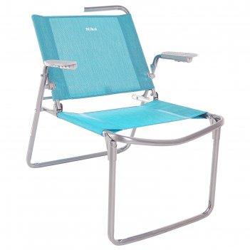 Кресло-шезлонг складное 730x570x640 мм, бирюзовый к1