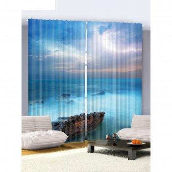 Комплект фотоштор молния, 145 х 265 см - 2 шт, разноцветный