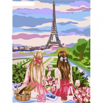 Картина по номерам на холсте с подрамником пикник в париже 30*40 см