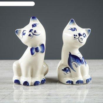 Набор для специй котята гжель