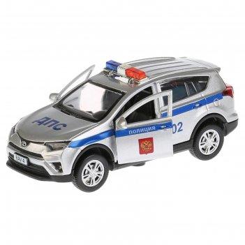 Машина металлическая инерционная toyota rav4 «полиция», 12 см, световые и