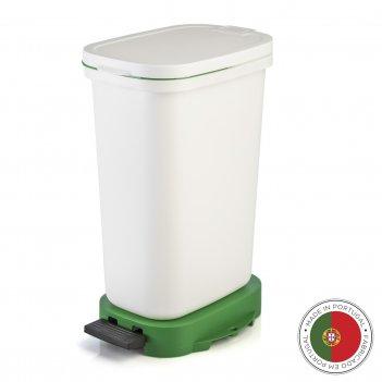 Мусорный бак с педалью be-eco 20л, белый-зеленый