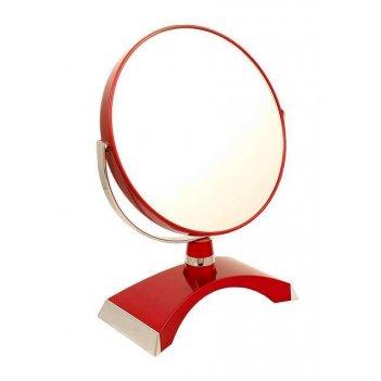 Зеркало b7 300 ruby/c red настольное 2-стор. 5-кр.ув.18 см.