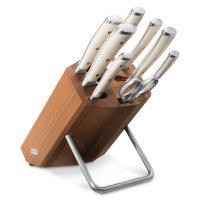 Набор из 6 - ти ножей с мусатом и ножницами на деревянной подставке, серия