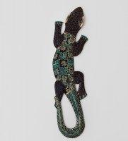 10-030 панно настенное геккон джава (батик, о.ява) 40см