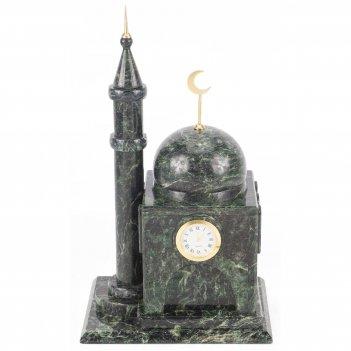 Часы мечеть малая змеевик 200х150х345 мм 5500 гр.