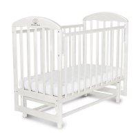 Детская кроватка «венеция» на маятнике, цвет белый