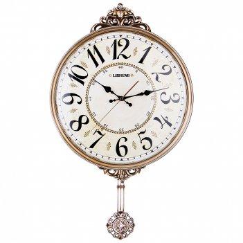 Часы настенные кварцевые с маятником 42*6*70 см. диаметр циферблата=38 см.