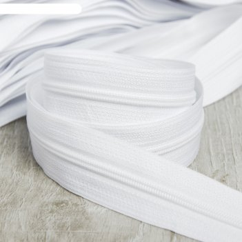 Молния «спираль», №3, 100 м, цвет белый