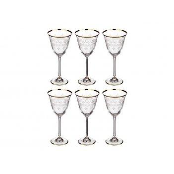 Набор бокалов для вина из 6 шт.250 мл.высота=21 см.
