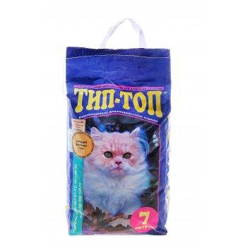 Наполнитель минеральный впитывающий для длинношерстных кошек тип-топ 7л